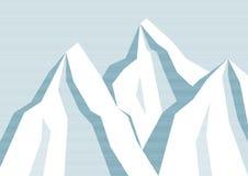 Линия предпосылка горы Стоковая Фотография RF