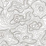 Линия предпосылка топографической карты ландшафта вектор Стоковая Фотография RF