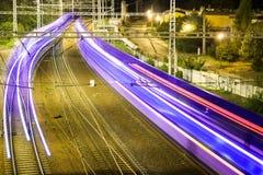 Линия проходя поезд Стоковые Фото