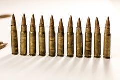 Линия пули на белой предпосылке стоковая фотография rf