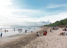 Линия пляжа Kuta, Бали, Индонезия Стоковая Фотография RF