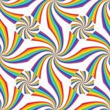 Линия радуги соединяет картину симметрии волны безшовную бесплатная иллюстрация