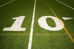 Линия разметки поля 10 Стоковая Фотография