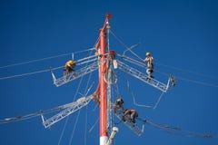 Линия ремонты энергии Стоковое Изображение