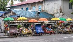 Линия рикш в Georgtown Стоковые Фото