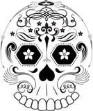 линия сахар дня искусства мертвая черепа Стоковое Фото