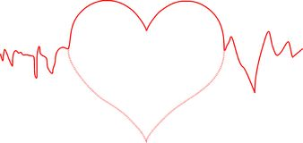линия сердца Стоковая Фотография