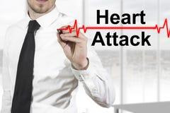 Линия сердечный приступ биения сердца доктора Стоковая Фотография RF