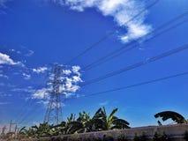 Линия силы электрическая стоковое изображение