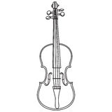 Линия скрипка стиля изолированная на белой предпосылке Стоковые Изображения RF