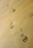 линия следов ноги стоковое фото