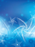 Линия снежинка whinter современная Стоковое Изображение RF