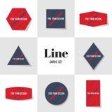 Линия собрания раскосная для ваших карточек дизайна Стоковая Фотография RF