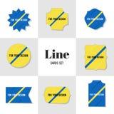 Линия собрания раскосная для ваших карточек дизайна Стоковые Изображения RF