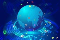 Линия состав пункта карты Worl представляя смысл соединения глобальной вычислительной сети международный Стоковое фото RF