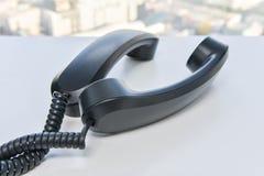 Линия спираль телефонной трубки телефона стоковые фото
