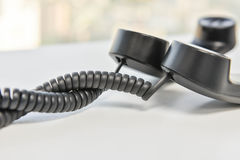 Линия спираль телефонной трубки телефона стоковое изображение