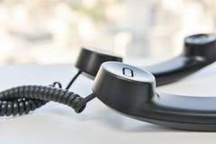 Линия спираль телефонной трубки телефона стоковое фото rf