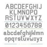 Линия стиль алфавита нашивок. Стоковое Изображение RF