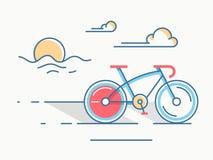 Линия стиль велосипеда спорта Стоковое Изображение RF