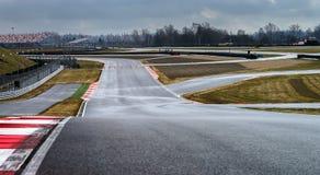 Линия следа пути гонки Стоковое фото RF