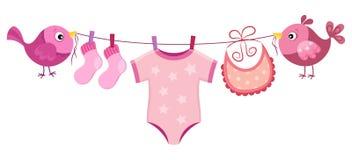 Линия с одеждой для ребёнка Стоковое Изображение