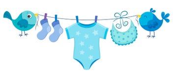 Линия с одеждой для ребёнка Стоковые Фото