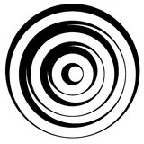 Линия сложной формы w концентрических кругов динамическая Monochrome конспект Стоковые Изображения RF