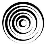 Линия сложной формы w концентрических кругов динамическая Monochrome конспект Стоковое Изображение