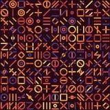 Линия случайный вид решетки вектора безшовная Multicolor геометрическая форм бесплатная иллюстрация