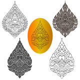 Линия тайский дизайн стоковая фотография rf