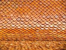 Линия текстура крыши horizental виска Стоковая Фотография