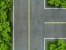 Линия текстуры дороги асфальта, желтых и белых на дороге Стоковое фото RF