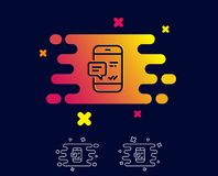 Линия телефонного сообщения значок Передвижной знак болтовни бесплатная иллюстрация