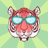 Линия тигр искусства Стоковое Фото