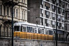 Линия 2 трамвая в Будапеште Стоковое Изображение