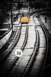 Линия 2 трамвая в Будапеште Стоковые Фото