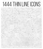 Линия установленные значки исключения 1444 тонкая иллюстрация вектора