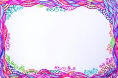 Линия фантазия Doodle искусства Стоковые Изображения