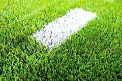 Линия футбольное поле Стоковая Фотография RF