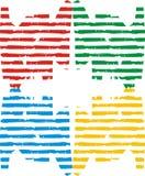 линия цвета Стоковое Изображение RF