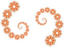линия цветка искусства Стоковое фото RF