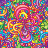 Линия цветка красит яркую безшовную картину Стоковые Изображения