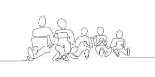 линия чертеж непрерывно играя мобильный телефон бесплатная иллюстрация