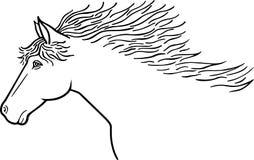 Линия чертеж лошади Стоковые Изображения RF