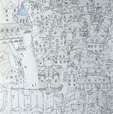 Линия чертеж чернил городка Dubrovnikold Стоковое Изображение