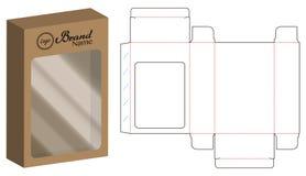 Линия шаблон штамповачного станка коробки бумаги Dvd упаковывая иллюстрация штока