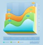 Линия шаблон дела 3d infographic Стоковая Фотография RF