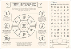 Линия шаблон перемещения Infographic дизайна Стоковые Фото