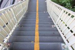 Линия эстакады и разделения лестницы желтая Стоковые Фото
